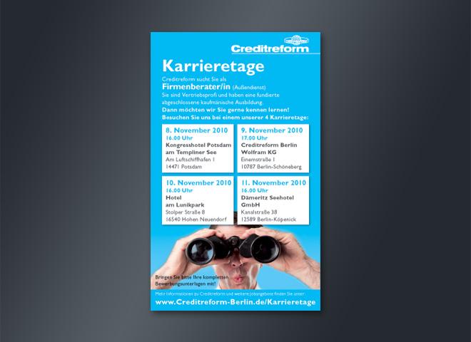 Creditreform Karriere Tage Fernglas Firmenberater Gestaltung Mattheis Werbeagentur Berlin