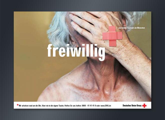 Deutsches Rotes Kreuz Anzeige freiwillig helfen Pflaster Gestaltung Mattheis Werbeagentur Berlin