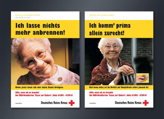 Deutsches Rotes Kreuz Essen auf Rädern Oma Opa Anzeige Menü Service Kreativ Mattheis Werbeagentur Berlin
