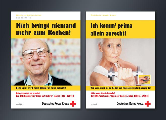 Deutsches Rotes Kreuz Essen auf Rädern Menüservice Großeltern Oma Opa DRK Anzeigen Mattheis Werbeagentur Berlin