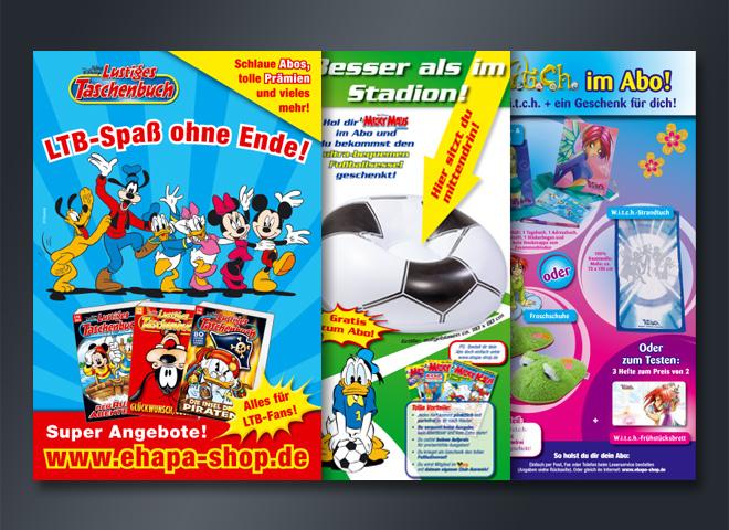 Epha Shop Sammelhefte Aktionen Witch Micky Maus Donald Duck Freunde Gestaltung mattheis. Werbeagentur Berlin