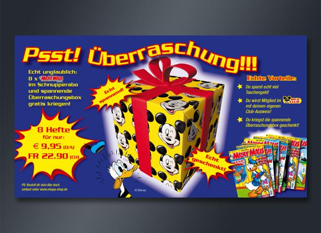 Micky Maus Geschenk Hefte Donald Duck Idde Konzeption mattheis. Werbeagentur Berlin