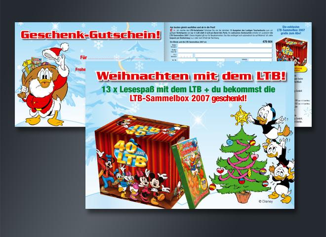 LTB Weihnachten Geschenkgutschein Lesespaß Sammelbox 2007 Mattheis Werbeagentur Berlin