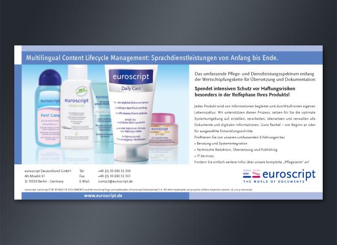 Anzeigenkampagne Euroscript haftungsrisiken Schutz Sprachdienstleistung Produkt mattheis. Werbeagentur Berlin