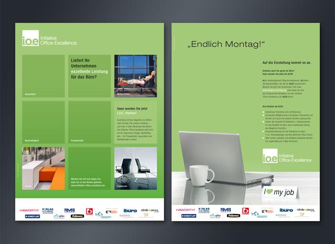 IOE initiative office excellence Endlich Montag Anzeige Grün Mattheis Werbeagentur Berlin