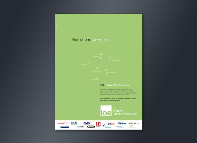 IOE Initiative Office Excellence Anzeigengestaltung Idee Mattheis Werbeagentur Berlin