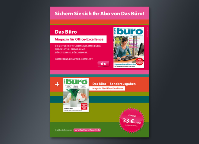 Verlag Frank Nehring Magazin Büro Hochformat Abo sichern Umsetzung Mattheis Werbeagentur Berlin