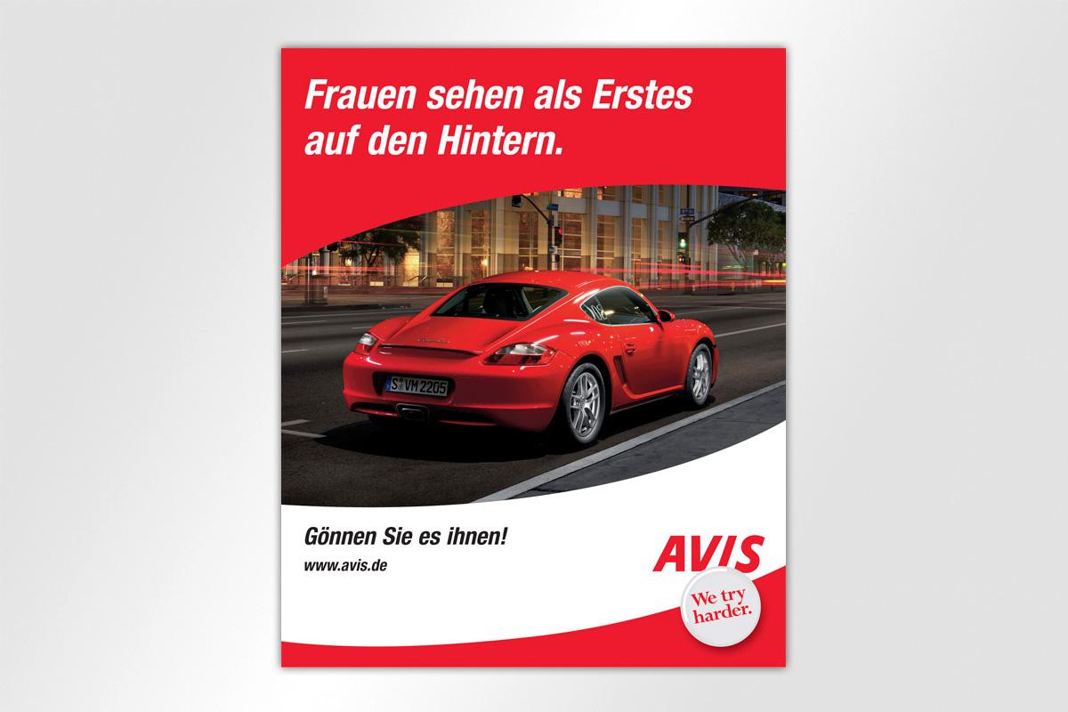 Anzeigenkampagne Berliner Luft Avis Autovermietung Frauen Hintern Sportwagen Stadt schnell Gestaltung mattheis werbeagentur berlin