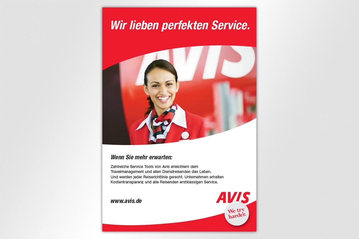 Anzeigenkampagne Berliner Luft Avis Autovermietung perfekter Service Mietwagen Gestaltung mattheis. Werbeagentur Berlin