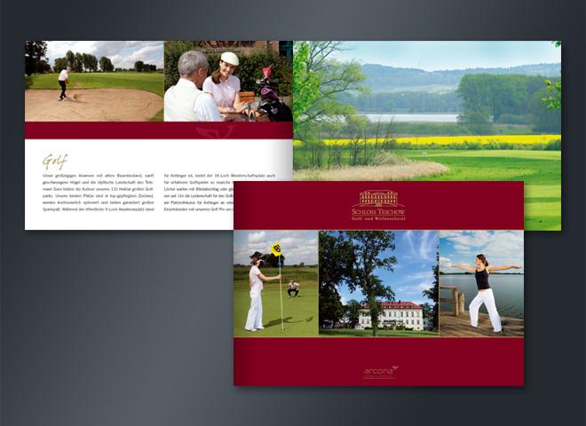 Arcona Schloss Teschow Broschüre Golf Urlaub Hotel Wellness Mattheis Werbeagentur Berlin
