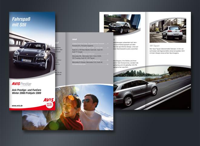 Avis Autovermietung Prestige Funcars Mietwagen PKW Mattheis Werbeagentur Berlin