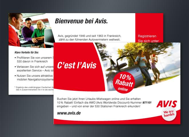 Avis Autovermietung Urlaubsmietwagen Online Rabatt Frankreich Gestaltung Mattheis Werbeagentur Berlin