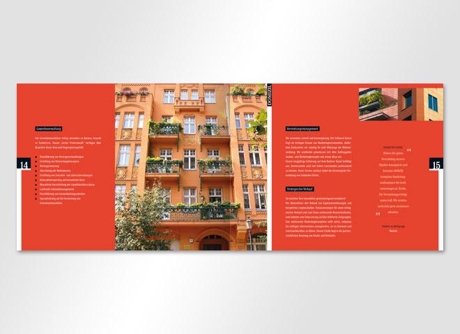 Domizil Hausverwaltung Mieter Magazin Doppelseite mieten wohnen kaufen leben Mattheis Werbeagentur Berlin