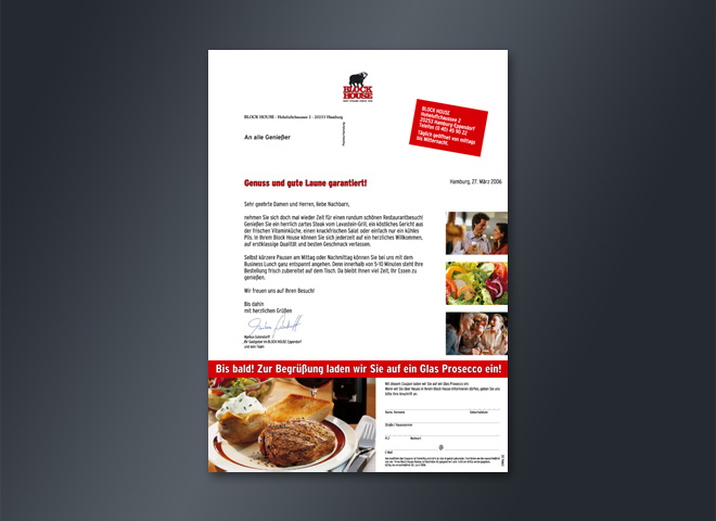 Block House Steak Restaurant Berlin Genuss lecker Prosecco Gestaltung mattheis werbeagentur berlin