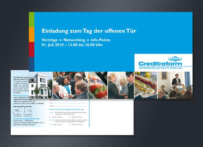 creditreform Tag offen Tür Einladung Mailing mattheis werbeagentur berlin