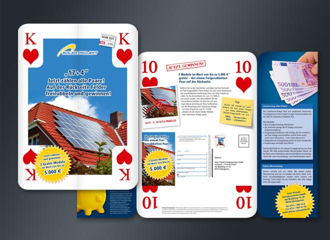 solarprojekt Karte Kartenspiel Herz König Paare Idee Gestaltung mattheis werbeagentur berlin