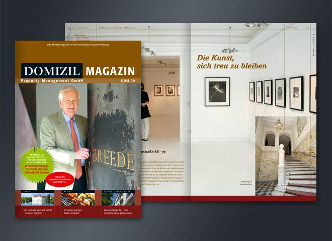 Domizil Magazin Hausverwaltung Management Kunst Häuser Wohnungen Gestaltung Mattheis Werbeagentur Berlin