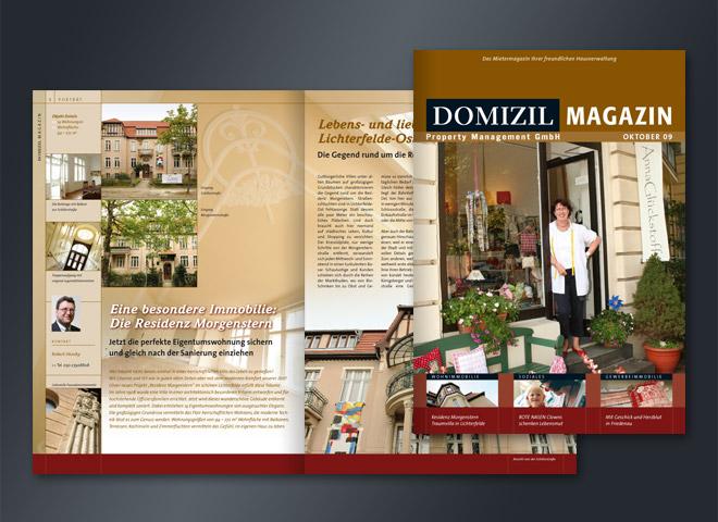 Domizil Magazin Immobilien Hausverwaltung Lichterfelde Wohnung Gestaltung Mattheis Werbeagentur Berlin