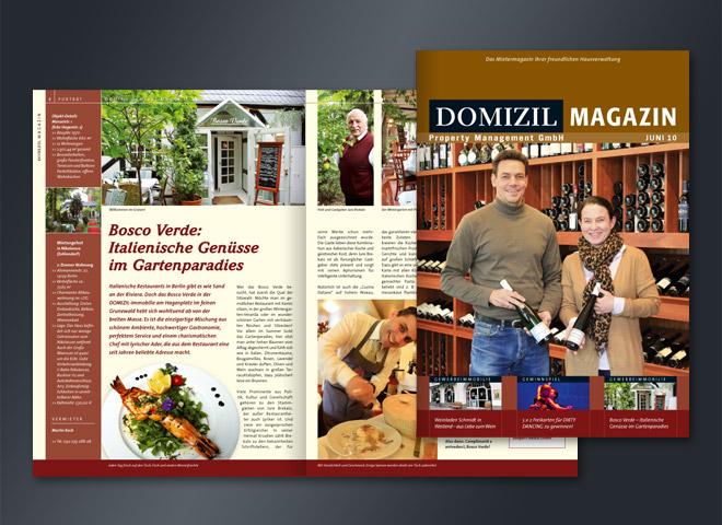 Domizil Magazin Hausverwaltung Management Mietobjekte Kaufobjekte Gestaltung Mattheis Werbeagentur Berlin