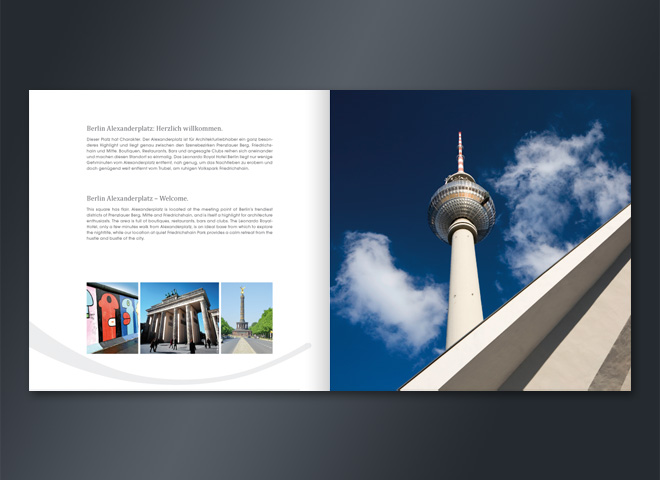Leonardo Hotel Royal Alexanderplatz Berlin Fernsehturm Brandunburger Tor Umsetzung Mattheis Werbeagentur Berlin