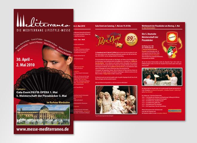 mediterrano Messe Lifestyle Pasta Opera Flyer Gestaltung mattheis werbeagentur Berlin