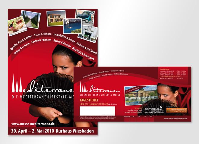 mediterrano Lifestyle Messe Ticket Reisen Sprache Kunst Kultur Essen Leben Gestaltung mattheis werbeagentur Berlin