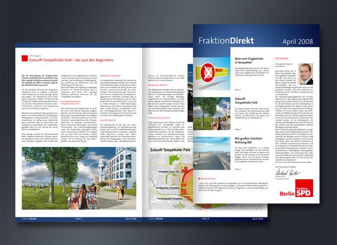 SPD Fraktion Sozial Demokratie Partei Politik Magazin Gestaltung Mattheis Werbeagentur Berlin