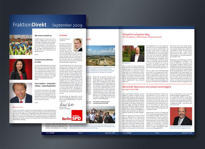 SPD Fraktion Direkt Wirtschaft Wachstum Tempelhof MagazinGestaltung Mattheis Werbeagentur Berlin