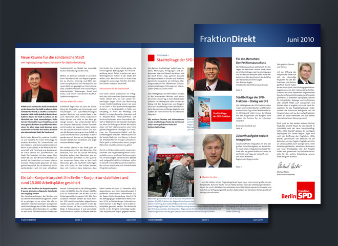 SPD Solidarität Politik Bundestag Politiker Konjunkturpaket Magazin Direkt Gestaltung Mattheis Werbeagentur Berlin