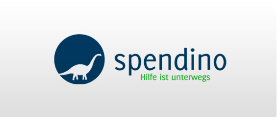 Logogestaltung Spendino Hilfe Spenden Mattheis Werbeagentur Berlin