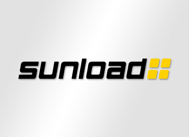 Sunload GmbH – Sunload Solar Sonnenkraft Strom Logo schwarz Umsetzung Mattheis Werbeagentur Berlin