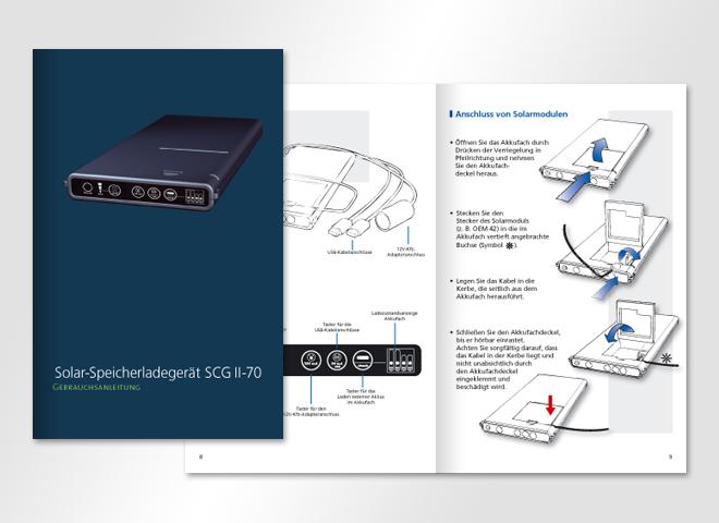 Sunload GmbH – Sunload Gebrauchsanweisung Speichergerät Solar Strom Energie Gestaltung mattheis werbeagentur Berlin