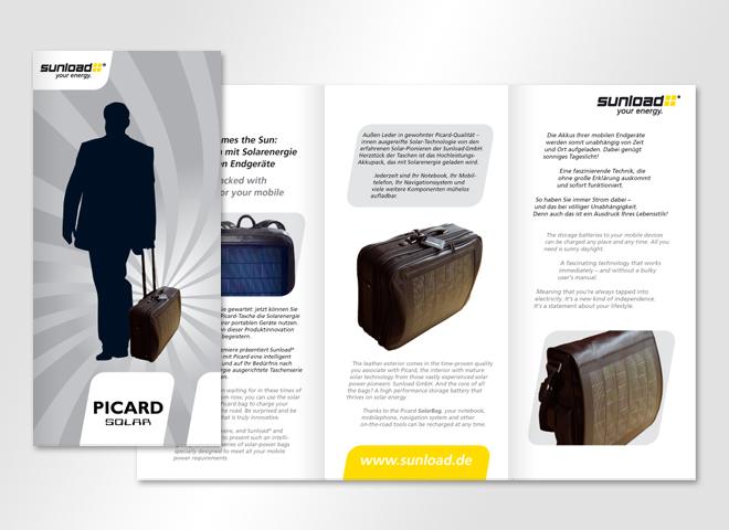 Sunload GmbH – Sunload Reisetasche Strom Sonne Unterwegs Gestaltung mattheis werbeagentur Berlin