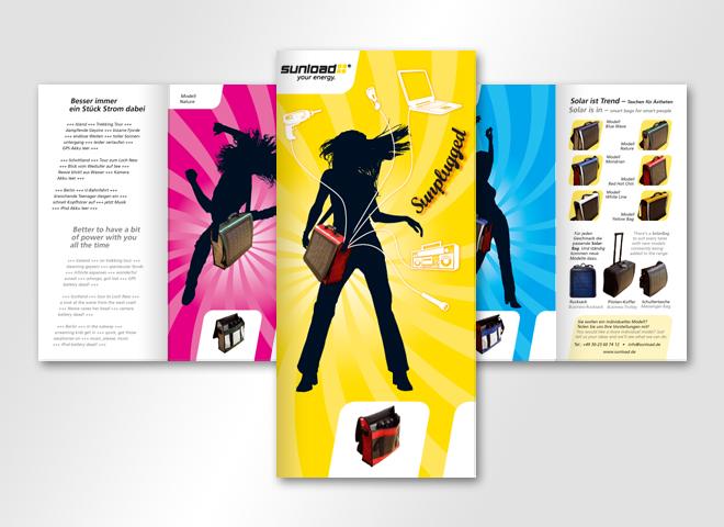 Sunload GmbH – Sunload Sunplugget Tasche Solarstrom Gestaltung mattheis werbeagentur Berlin
