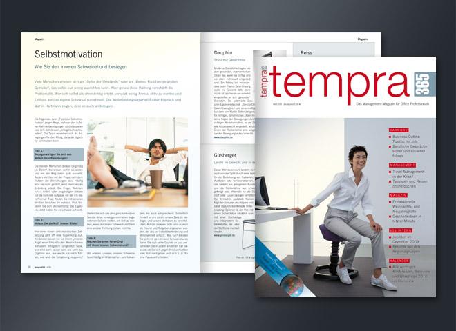 Tempra 365 Magazin Bürostuhl Rückenschonend Motivation Arbeitsplatz Unternehmer Office Umsetzung Gestaltung mattheis. Werbeagentur