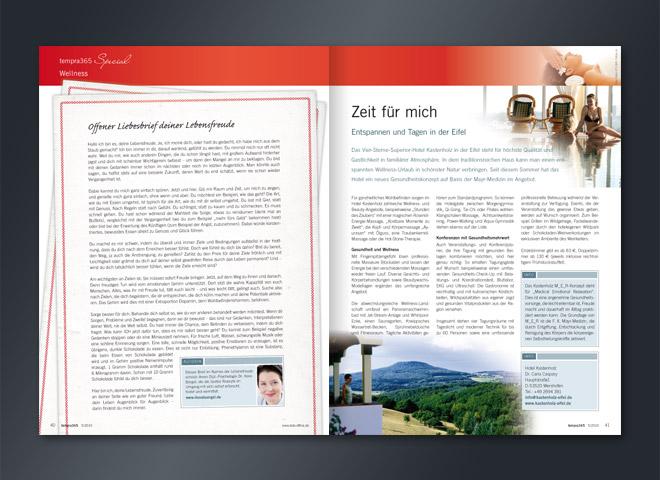 Tempra 365 Magazin Tagung Unternehmen bsb Umsetzung Gestaltung mattheis. Werbeagentur