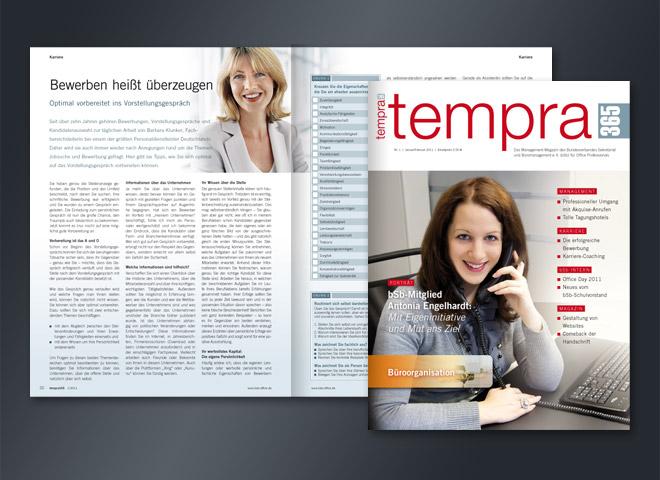 Tempra Magazin bsb Mitglied Eigeninitiative Arbeitgeber Erfolg Mut Umsetzung Gestaltung mattheis. Werbeagentur