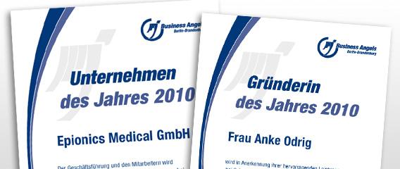 BACB Business Angels Berlin Brandenburg Urkunde Unternehmen Gründer Mattheis Werbeagentur Berlin