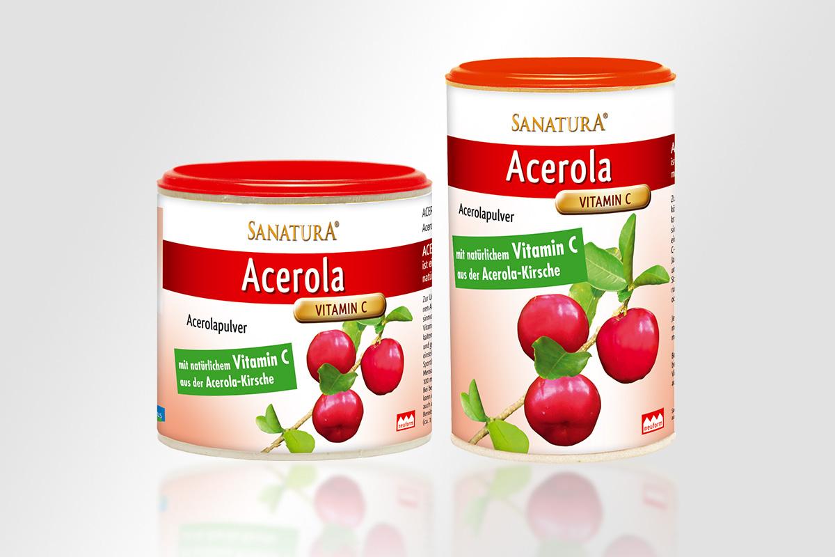 Sanatura Nahrungsergänzungsmittel Acerola Instant vitamin mattheis werbeagentur berlin