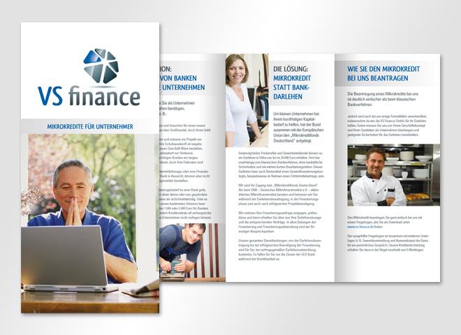 VS Finance GmbH – Kredit Bank Unternehmer Darlehn Geld Menschen Gestaltung mattheis werbeagentur Berlin