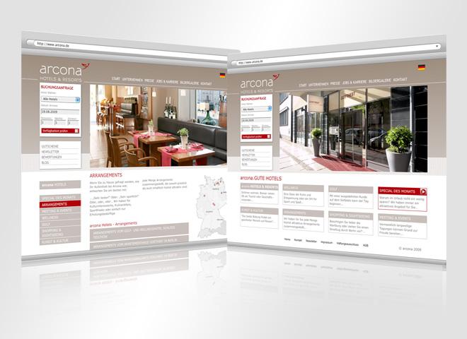 Arcona Hotel Resort Urlaub Reisen Website mattheis. Werbeagentur Berlin