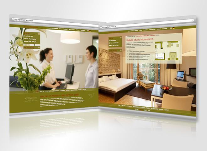 Website Arcona Living mattheis. Werbeagentur Berlin