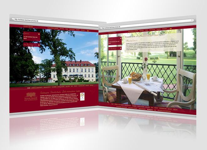 Arcona Teschow Schloss Website Gestaltung mattheis. Werbeagentur Berlin