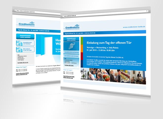 Creditreform Website Gestaltung Konzeption mattheis. Werbeagentur Berlin