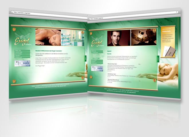 Engel Cosmetic Website Konzeption Gestaltung mattheis. Werbeagentur Berlin