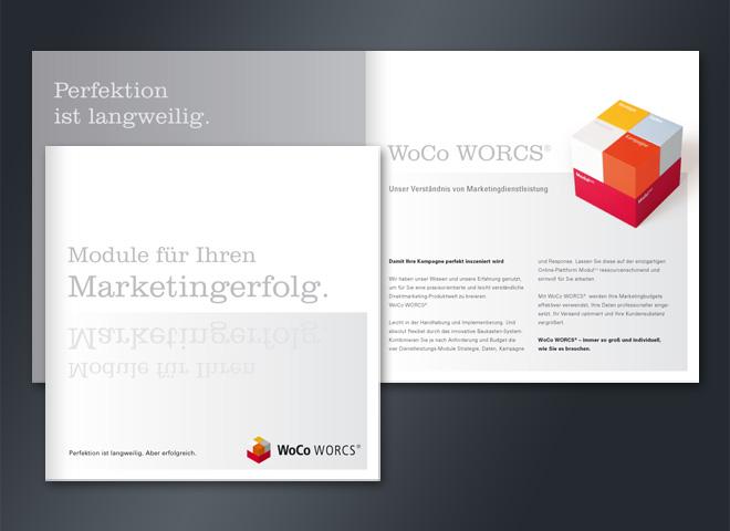 Wolff Consulting WoCo Marketing Erfolg Module Borschüre Gestaltung Mattheis Werbeagentur