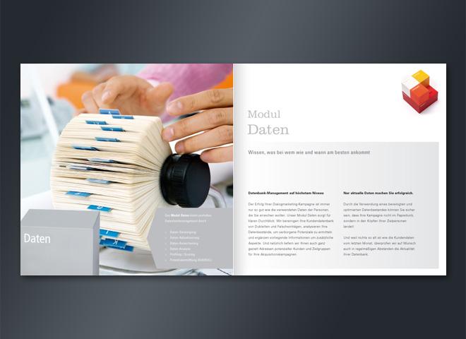 Wolff Consulting Woco Broschüre Modul Daten Marketingerfolg Gestaltung mattheis. werbeagentur berlin