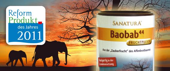 Sanatura Baobab Fruchpulver Konzeption Gestaltung mattheis. Werbeagentur Berlin