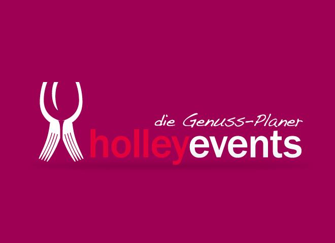 Holley Events Genuss Logo Corporate Design Gestaltung Mattheis Werbeagentur Berlin