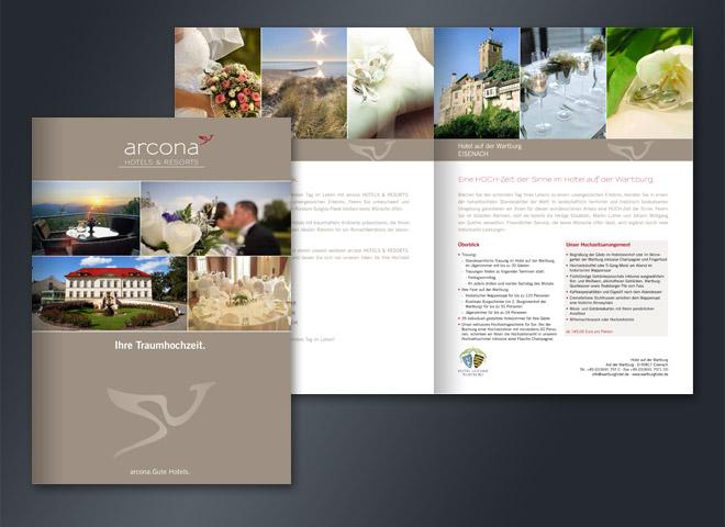 Arcona Hotels & Resorts Broschüre Traumhochzeit Gestaltung mattheis. Werbeagntur Berlin